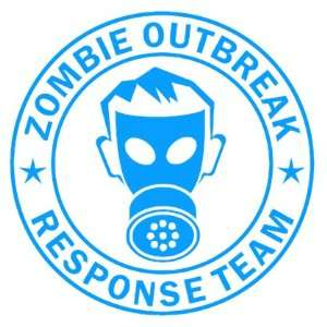 Zombie Outbreak Response Team IKON GAS MASK Design   5 LIGHT BLUE