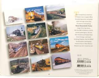 NEW/SEALED THOSE REMARKABLE TRAINS 2009 WALL CALENDAR