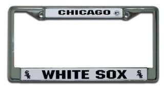 CHICAGO WHITE SOX BASEBALL CAR CHROME LICENSE FRAME