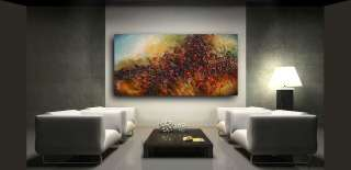 Flower Garden ART Modern contemporary painting Mix Lang Original
