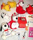 PEANUTS SNOOPY WOODSTOCK LOT 13 PCS PLUSH bobble head B