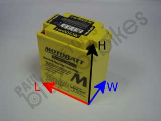 MBTX14AU Battery:Yamaha XT 600 Z Tenere (34L) (K/Start) (1983 1985