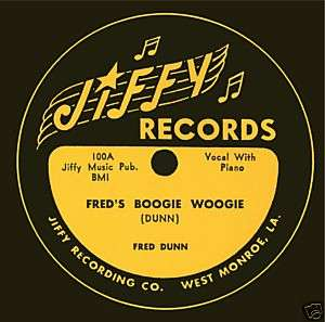Jiffy Records   Tee Shirt   Freds Boogie Woogie