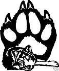 Wolf Paw Vinyl Stickers / Decals