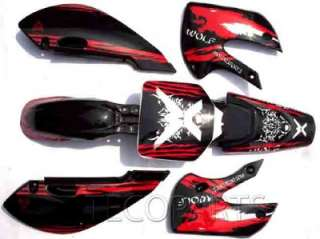New WOLF DECALS STICKERS Graphics KAWASAKI KLX 110 65 STYLE Pit Dirt