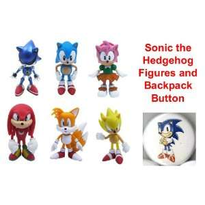 : Hard to Find Comic Book Hero Video Game Icon Set of 6 Classic Sonic