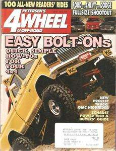 July 1994 Petersens 4 Wheel & Off Road 88 Jimmy Ford vs Chevy vs Dodge