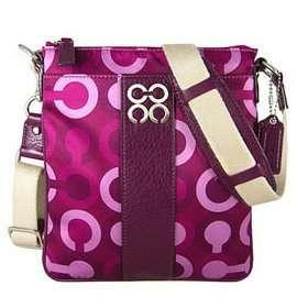 Coach Julia Op Art Signature Swingpack Crossbody Messenger Bag Purse