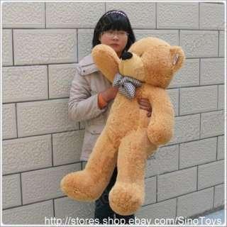 feet teddy bear stuffed plush toy light brown big 40