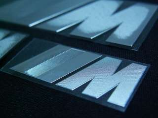 HIGH QUALITY BMW ///M STAINLESS STEEL STICKER 3PCS/SET