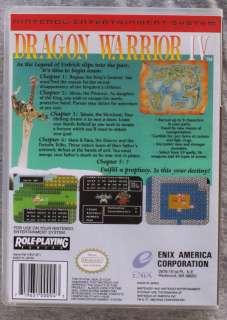 Warrior IV Nintendo NES Custom Game Case Quest 4 *NO GAME*
