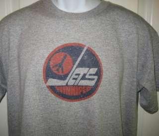 Winnipeg JETS 80s Throwback Logo Hockey T Shirt XL