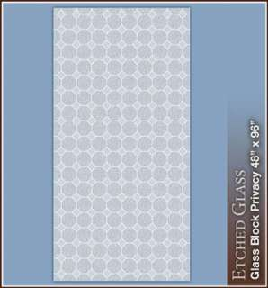New GLASS BLOCK Privacy Etched Glass Window Film White Vinyl Static