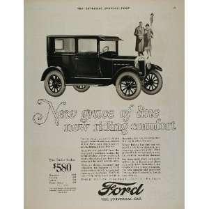1926 Ad Ford Model T Tudor Sedan Vintage Car Automobile