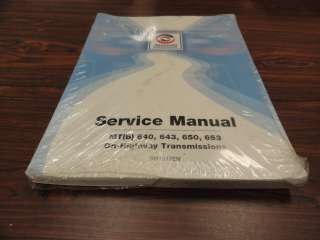 Allison MTB 640 643 650 653 Transmission Service Manual