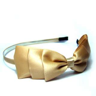 Item  Fashion bow tie silky fabric headband wedding party