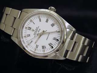 MENS STAINLESS STEEL ROLEX AIR KING NO DATE WATCH WHITE