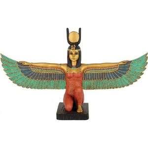 Egyptian Kneeling Winged Isis, Gold Details, Medium