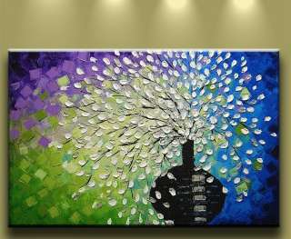 Oil Painting Modern Abstract Flowers Art Wall Decor Big