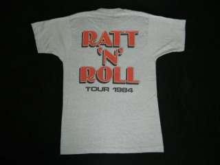 VINTAGE TOUR T SHIRT CONCERT ORIGINAL 80s ROCK TEE motley crue