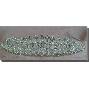 Bridal Wedding Tiara Crown With Crystal Lace 64376 Beauty
