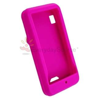 FOR MOTOROLA DROID A855 TAO SHOLES HOT PINK SOFT RUBBER SKIN CASE