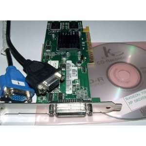 : ATI RADEON 7000VE DUAL VGA 64BIT 32MB AGP VIDEO CARD + CABLE/DRIVER