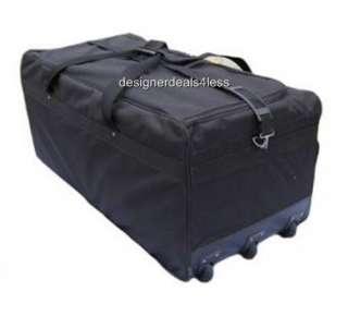 NEW 36 L BLACK ROLLING WHEELED DUFFEL BAG LUGGAGE SPORTS GEAR