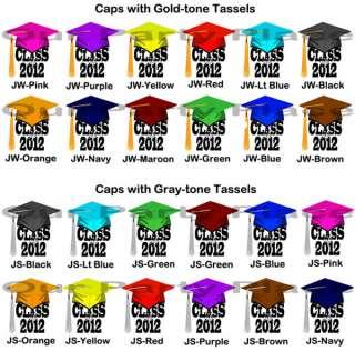 Graduation Class of 2012 Cap Tassel Personalized Party Invitations