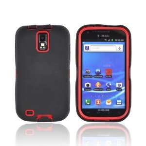 For T Mobile Samsung Galaxy S2 Black Red Hard Dual Hybrid
