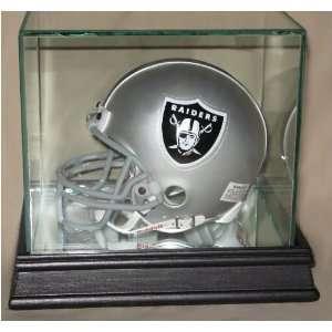 Football Helmet Display Case with Black Wood Base