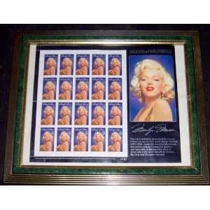 Marilyn Monroe 1995 Postage Stamp BlocK Framed (Movie