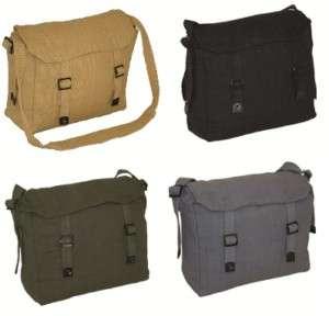 NEW Mens Canvas Webbing Haversack / Messenger Bag