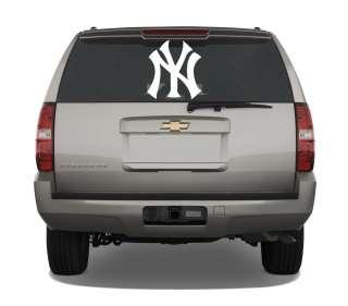 New York Yankees 18 White Vinyl Decal