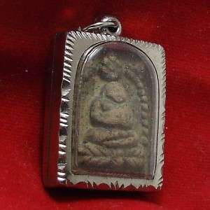 SANGKAJAI HAPPY BUDDHA REAL RARE ANTIQUE THAI AMULET PENDANT FOR