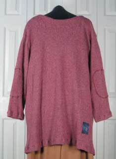 This Tunic is in a wonderful marled waffle thermal using Berry and