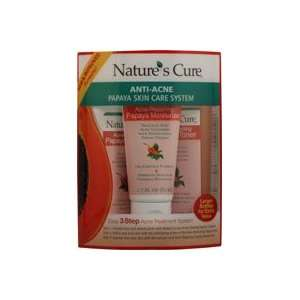 Natures Cure Anti Acne Papaya Skin Care System    1 Kit