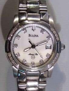Bulova Marine Star Watch Womens Stainless Steel Bracelet 26mm