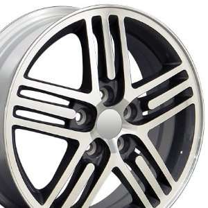 Eclipse Style Wheel with Machined Face Fits Mitsubishi   Gunmetal 17x6