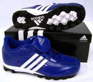 Adidas 376428 Phenom Jr II Low Youth Sz 3 Royal Blue White Baseball