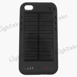 2400mAh Mini USB Solar Battery Charger Case fr iPhone 4