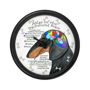 Dachshund Brain BT Funny Wall Clock by CafePress