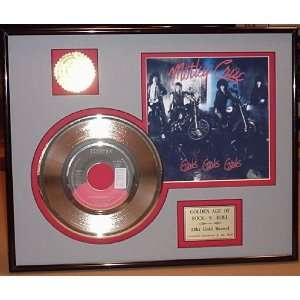 Girls, Girls Gold Record Limited Edition Collectible
