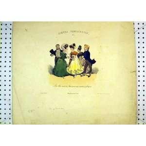 French Colour Comedy Print Men Women Dancing Romance
