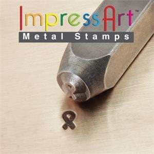 Breast Cancer Ribbon Design Stamp for Metal 4mm: Home Improvement