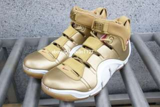 Zoom Lebron James IV 4 All Star Gold foamposite galaxy US9.5