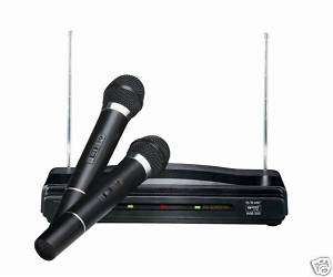 NEW GMI PRO DUO DUAL VHF WIRELESS MICROPHONE SYSTEM W/ 2 MICROPHONE