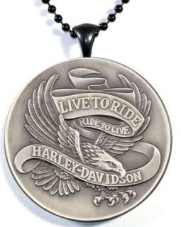 Harley Davidson Live To Ride, Ride To Live Pendant ANBC
