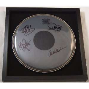 Van Halen Hand Signed Authentic Autographed Framed Remo Drum Head