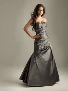 Moves 6082 Charcoal Prom Ball Gown Formal Pageant Dress Size 6